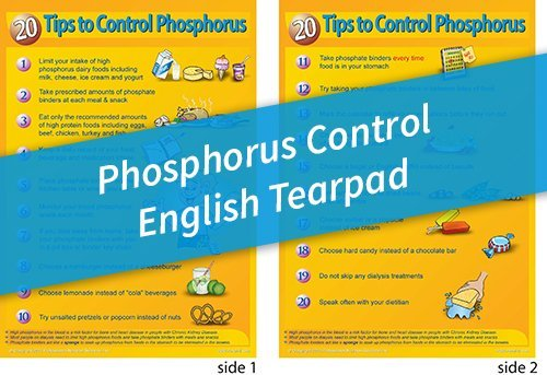 Tear Pad – 20 Tips to Control Phosphorus – English