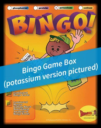 Renal Nutrition -Potassium- BINGO Game