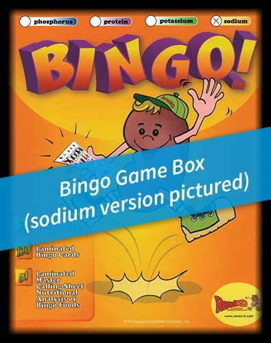 Renal Nutrition -Sodium- BINGO Game
