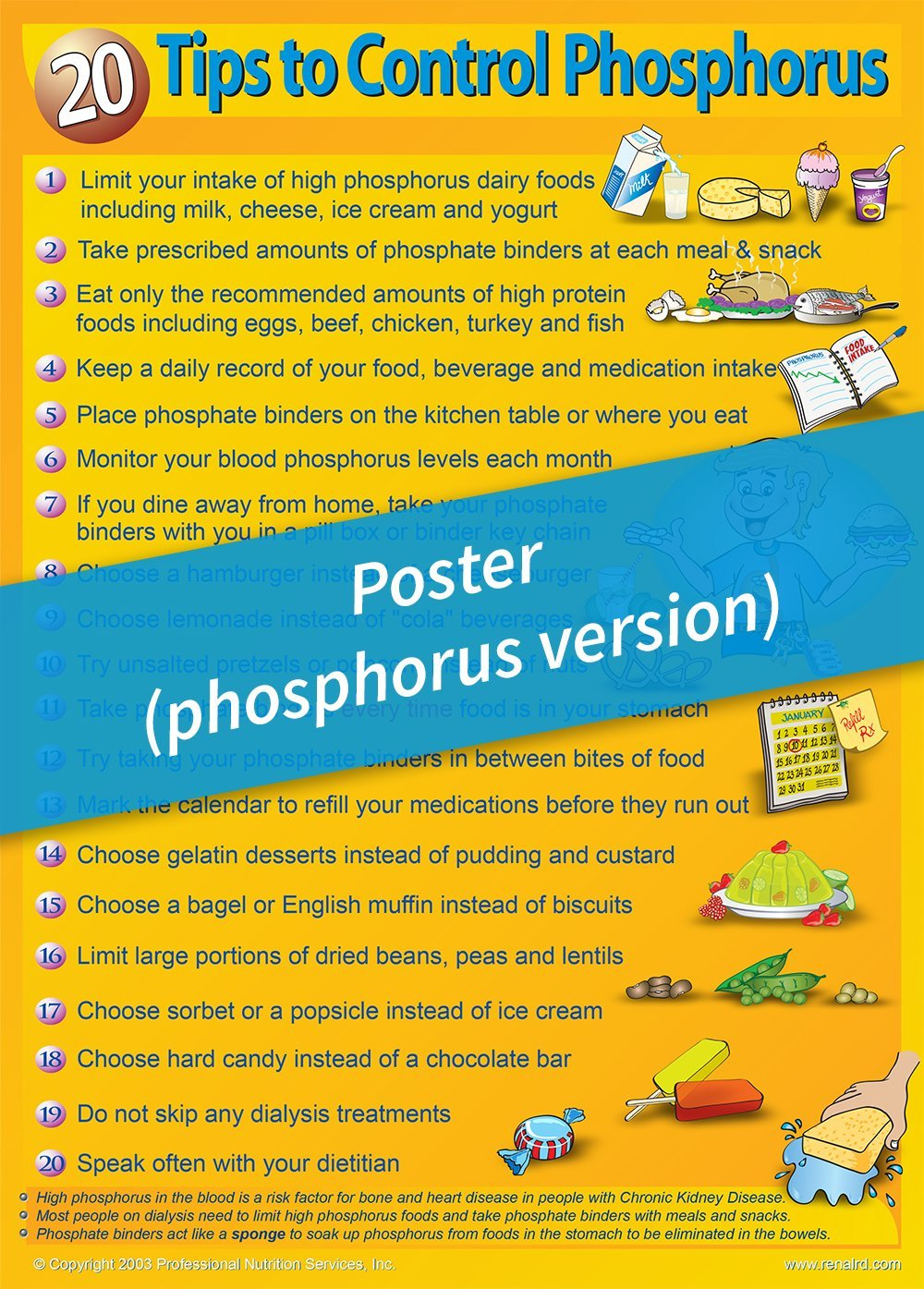 Poster – 20 Tips to Control Phosphorus